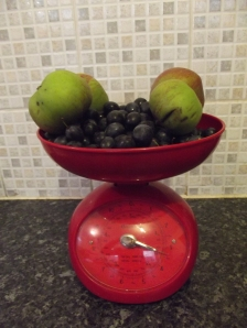 damsons and apples